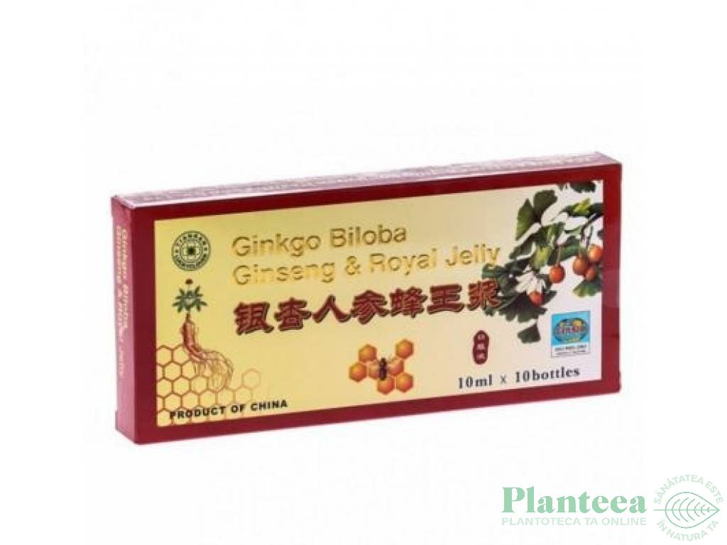 Ginkgo biloba ginseng royal jelly {3in1} 10fl - PINE BRAND