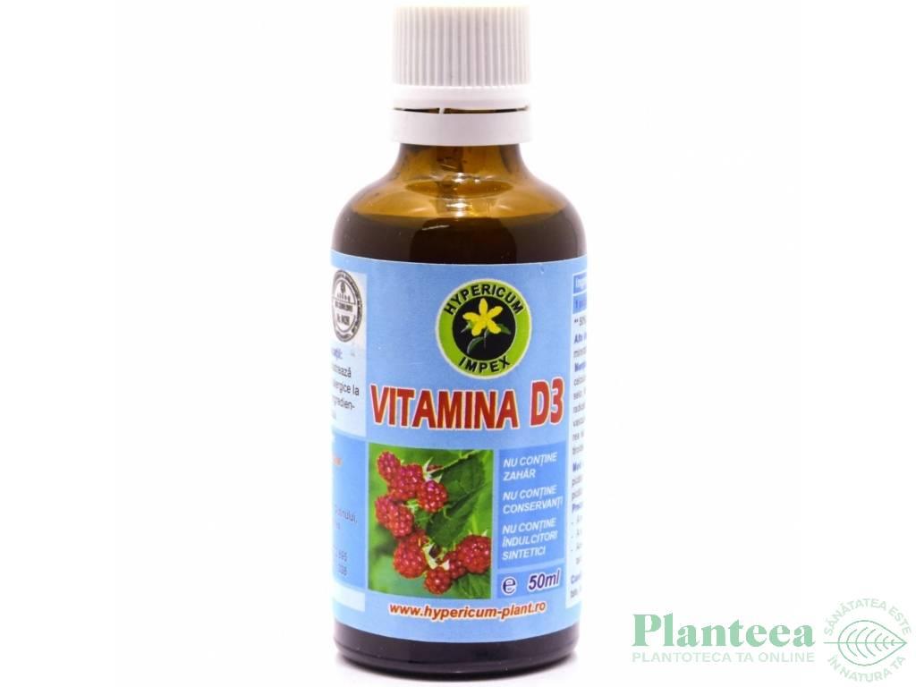 Vitamina D3 picaturi 50ml - HYPERICUM PLANT