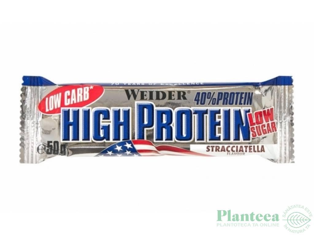 Baton proteic 40% HighProtein stracciatella 50g - WEIDER