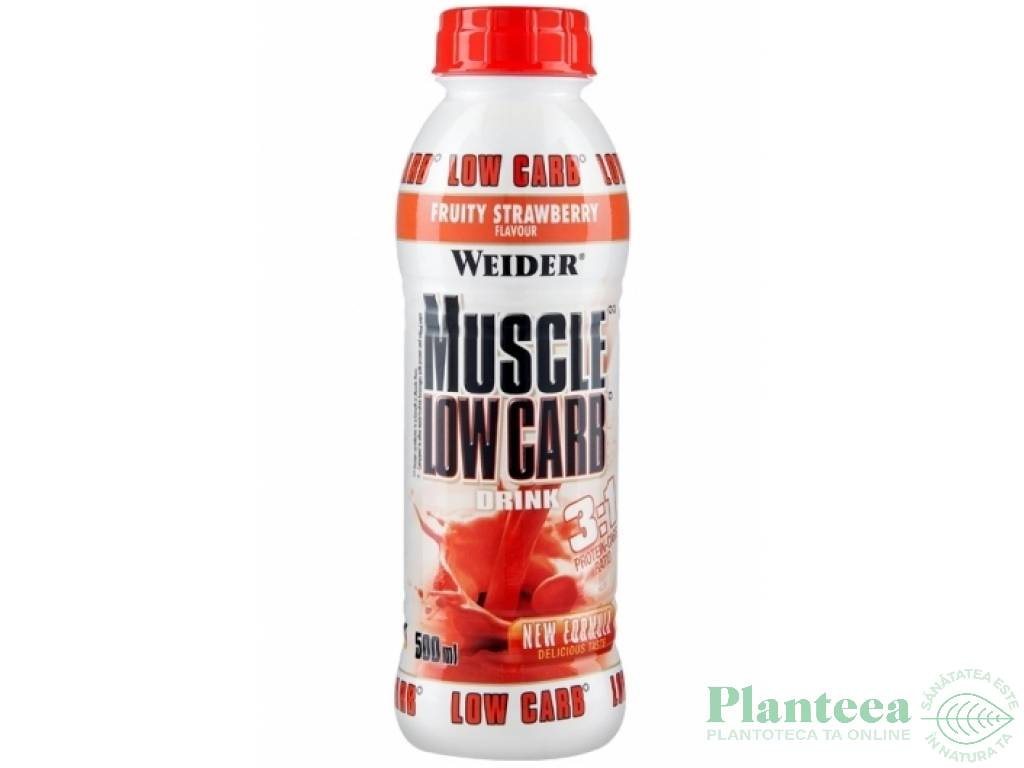 Shake muscle low carb capsuni 500ml - WEIDER