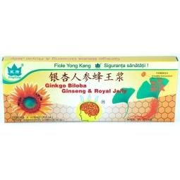 Ginkgo biloba ginseng royal jelly {3in1} 10fl - YONG KANG