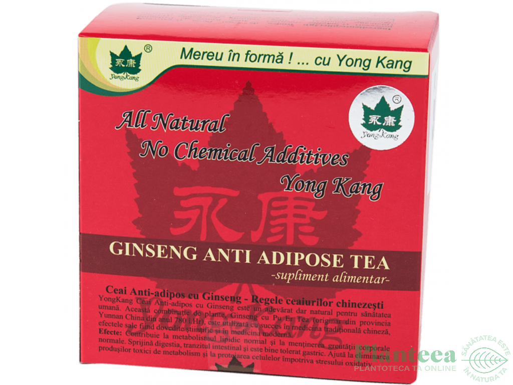 Prospect YongKang Ceai Anti-adipos cu Ginseng – Slabire
