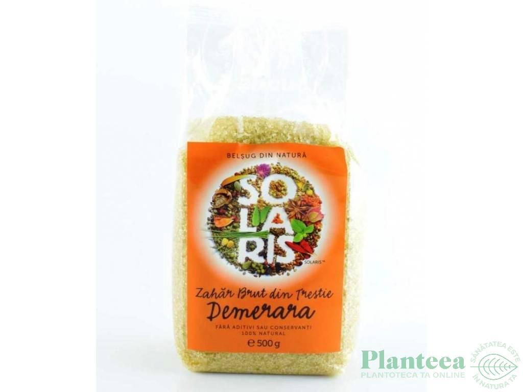 Zahar brut trestie nerafinat Demerara 500g - SOLARIS PLANT