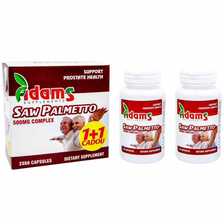Pachet Saw palmetto 500mg {1+1} 60cps - ADAMS