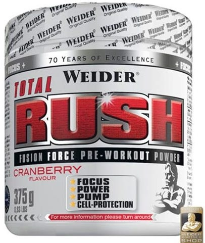 Pulbere Total Rush pre workout merisoare 375g - WEIDER