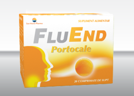 FluEnd portocale 20cp - SUN WAVE PHARMA